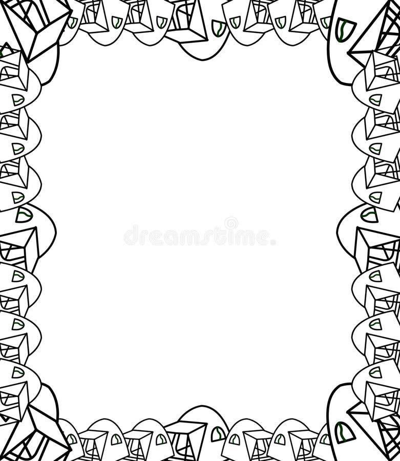 Decorative hand drawn border and frame vector illustration