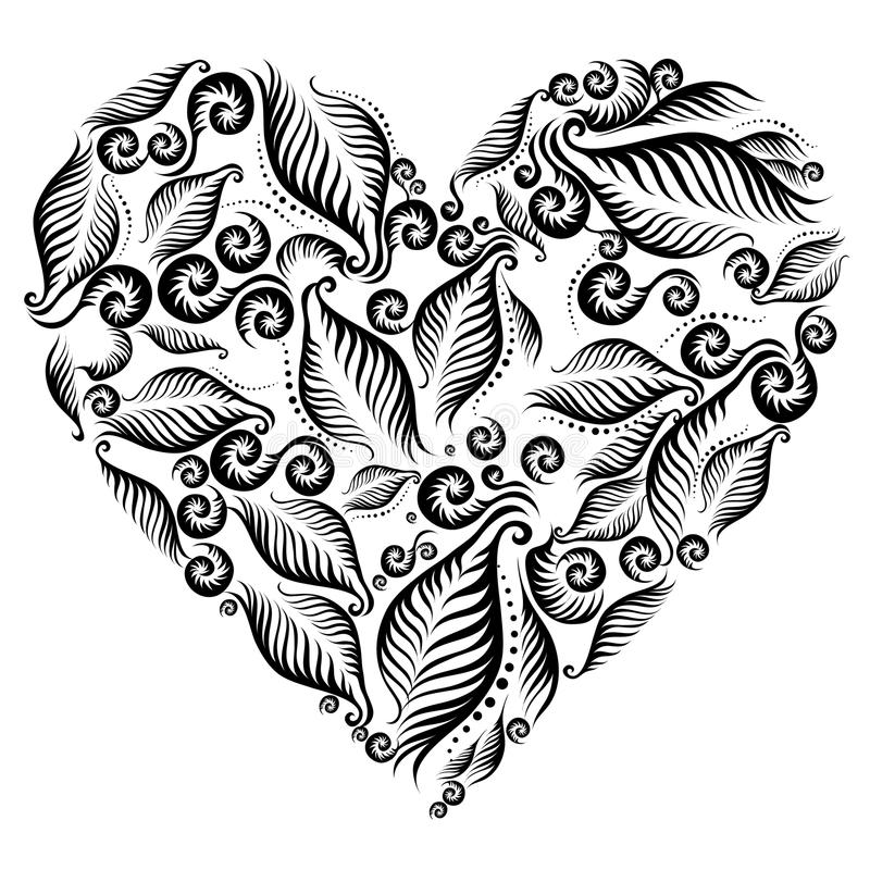 Decorative heart vector illustration