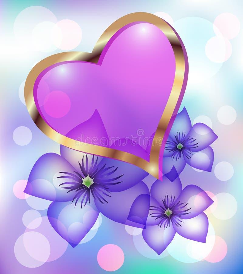 Decorative heart royalty free illustration