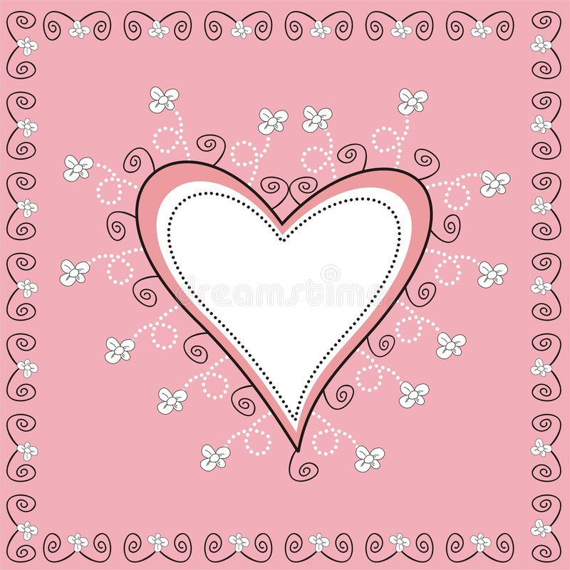 Decorative Heart royalty free illustration