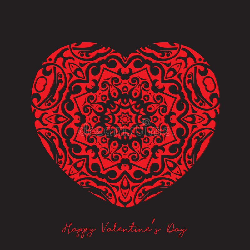Decorative heart background for Valentine`s day royalty free illustration