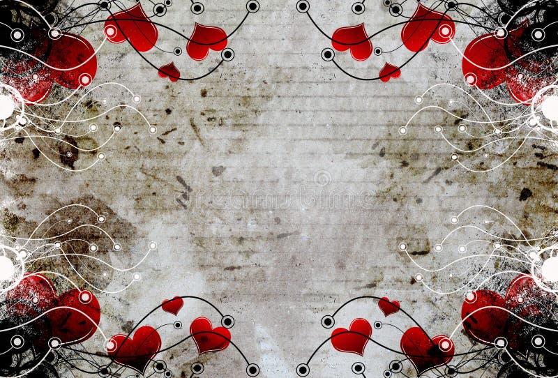 Download Decorative heart design stock illustration. Image of background - 25325757