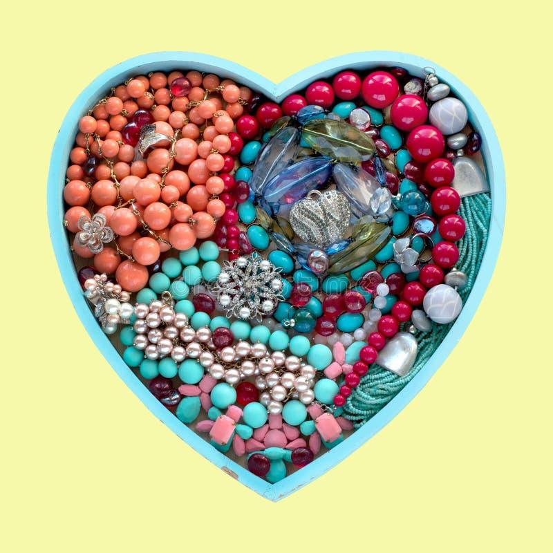 Decorative heart jewelry for women heart. stock photo