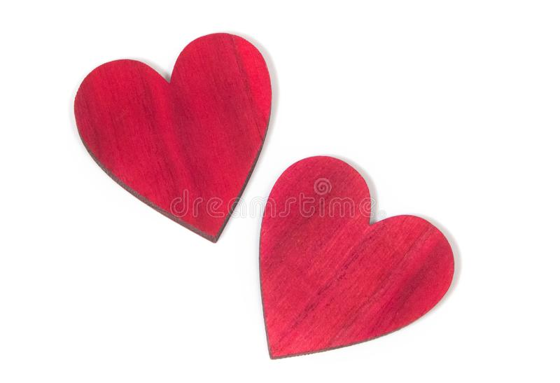 Decorative hearts are a symbol of love and unity of souls. Decorative heart sign and symbol of love of two lovers. Love Day Valentine`s Day. Congratulations for royalty free stock photos