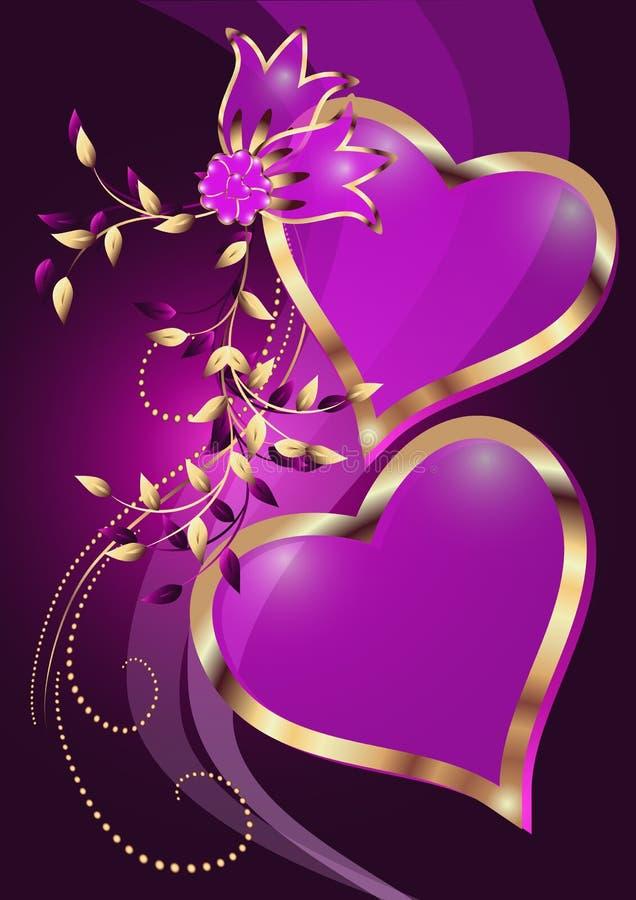 Decorative hearts vector illustration