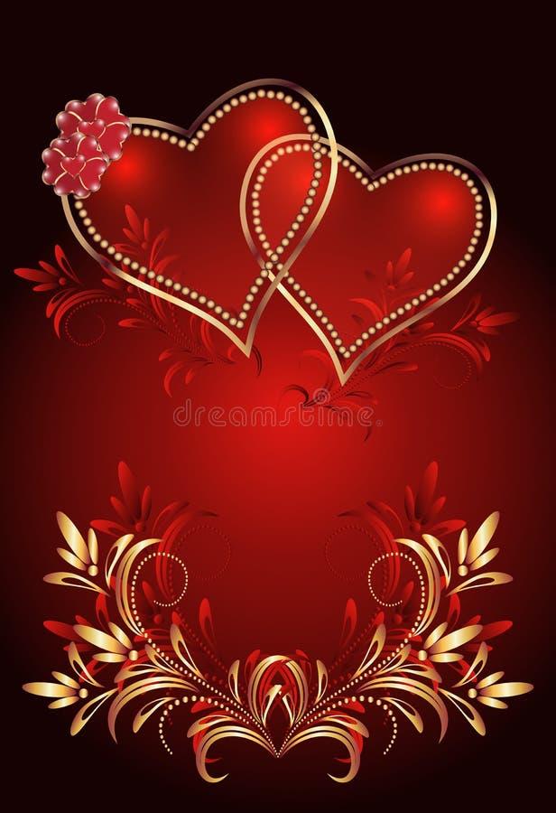 Decorative hearts stock illustration