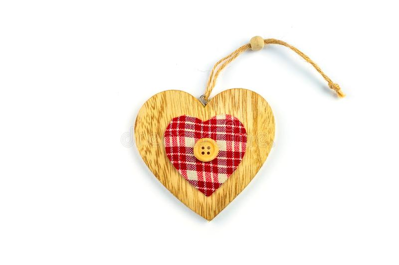 Decorative hearts on wood. stock images