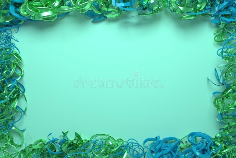 Decorative, illustrations CGI composition, string backdrop virtual paper frame, for design texture background. 3D render. String backdrop virtual paper frame stock photo