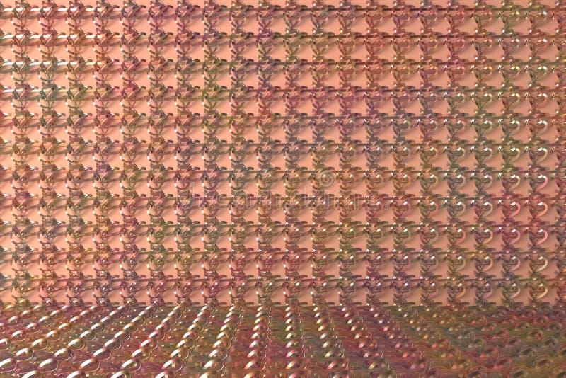 Decorative, illustrations CGI composition, string mat geometric backdrop, for design texture background. 3D render. CGI composition, geometric backdrop, string stock illustration
