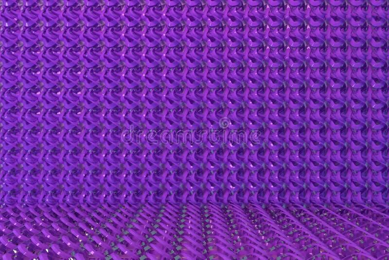 Decorative, illustrations CGI composition, string mat geometric backdrop, for design texture background. 3D render. Geometric backdrop, string mat, CGI royalty free illustration