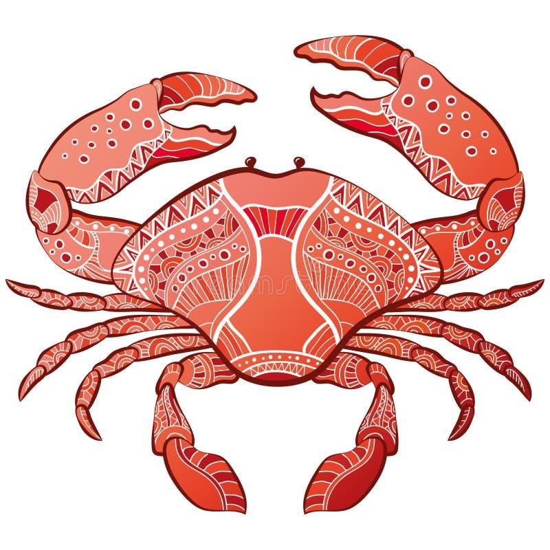 Decorative isolated crab stock illustration