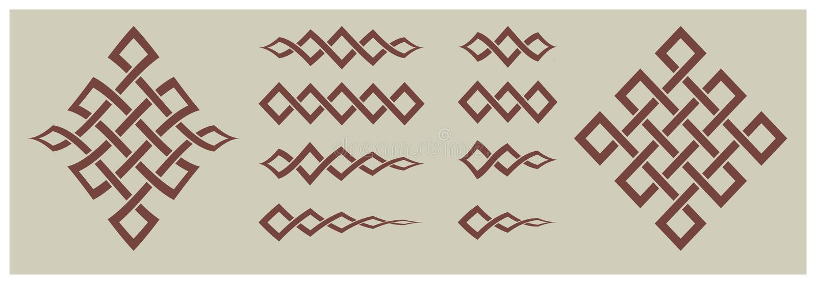 Decorative items and ornaments geometric shapes stock illustration