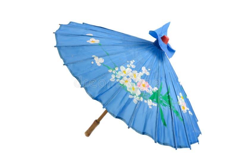 Decorative Japanese Umbrella. A decorative Japanese-style umbrella isolated on white royalty free stock photography