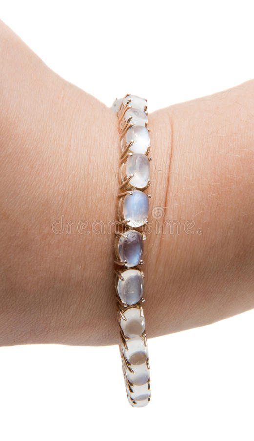 Free Decorative Jewelery Moonstone Bracelet Stock Photo - 87682130