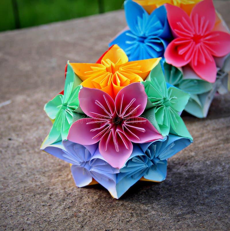 Decorative kusudama flower balls stock image image of home decorative pastel coloured origami modular flower balls mightylinksfo