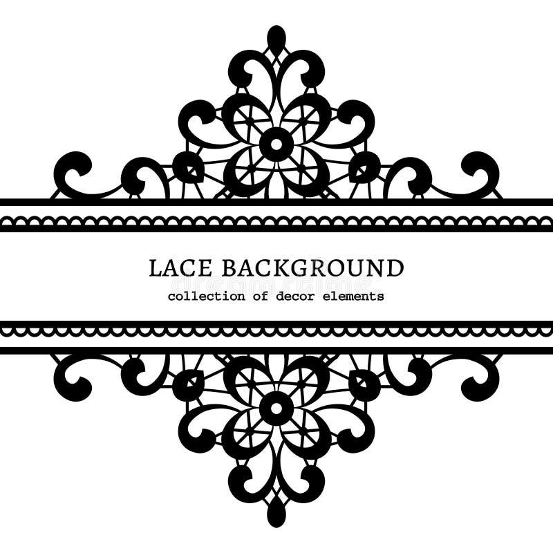 Black Flower Decorative Frame Vectors Material 04 Free: Decorative Lace Frame Stock Vector. Illustration Of