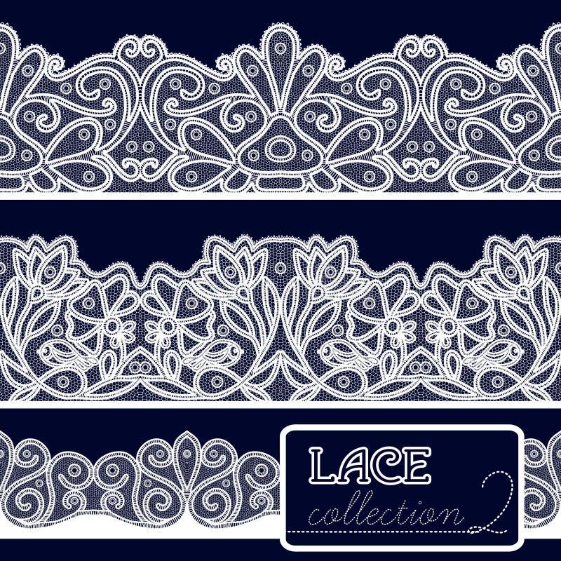 Decorative Lace Set stock illustration