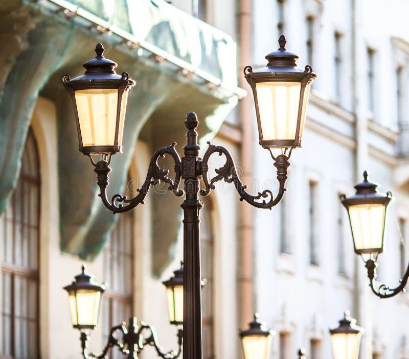 Decorative lamp posts royalty free stock photo