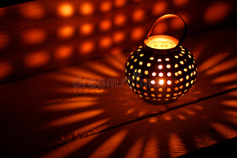 Lantern with Candle royalty free stock photo