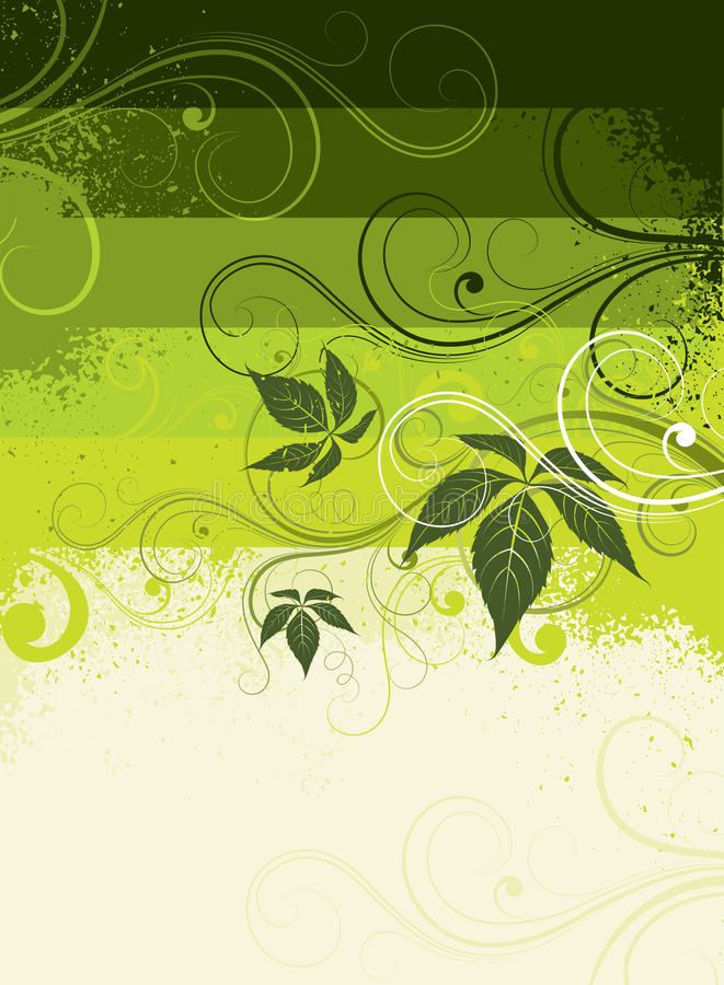 Decorative Leafy Background Stock Photo