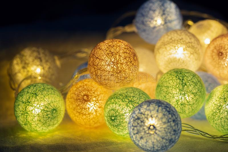 Decorative LED lights for party, Christmas xmas, Happy new year, festive, event, happy birthday, celebration, congratulations royalty free stock photography