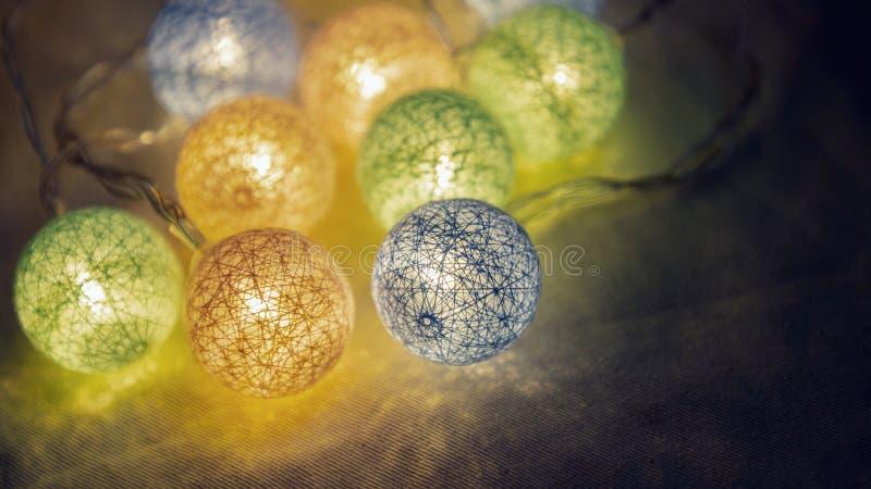 Decorative LED lights for party, Christmas xmas, Happy new year, festive, event, happy birthday, celebration, congratulations royalty free stock photo