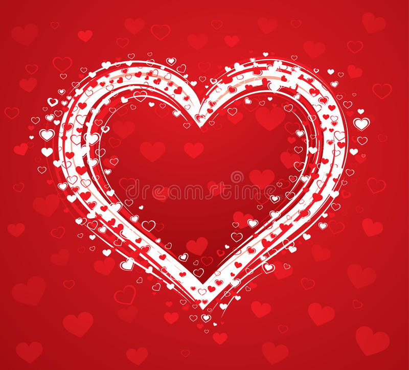 Decorative love heart stock images