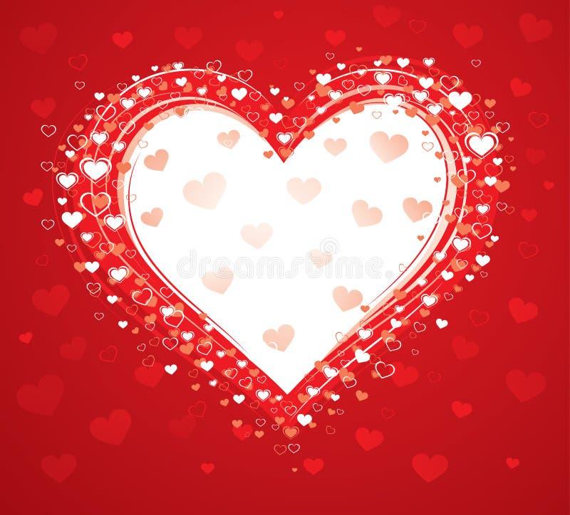 Decorative love heart stock image