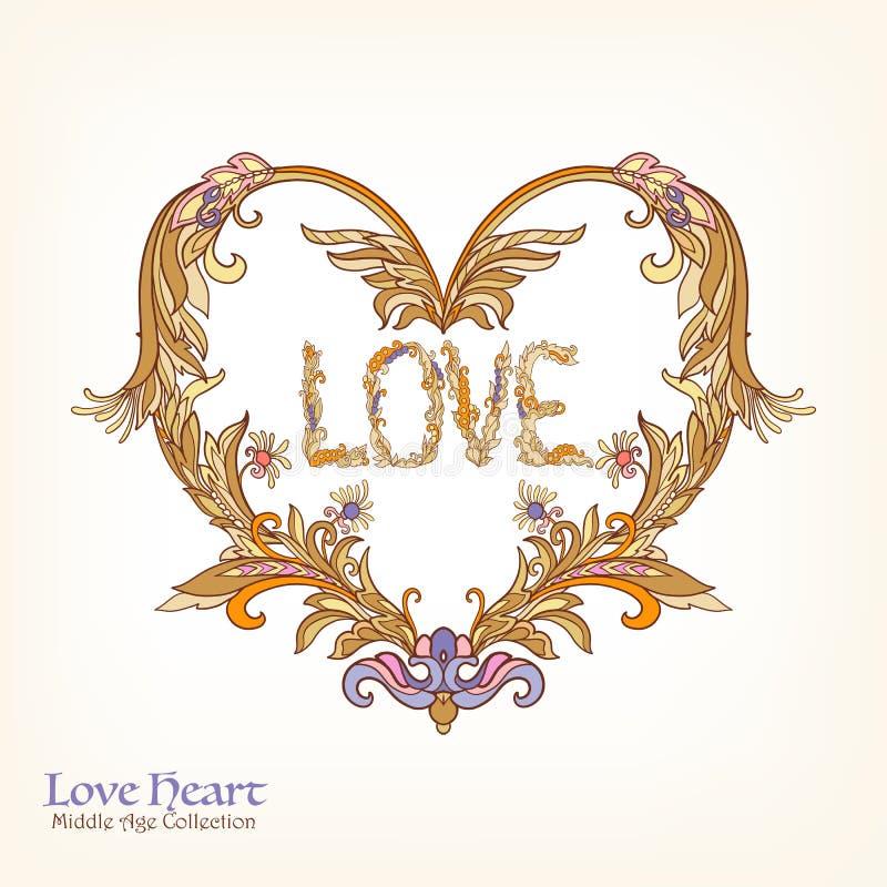 Decorative Love Heart vector illustration