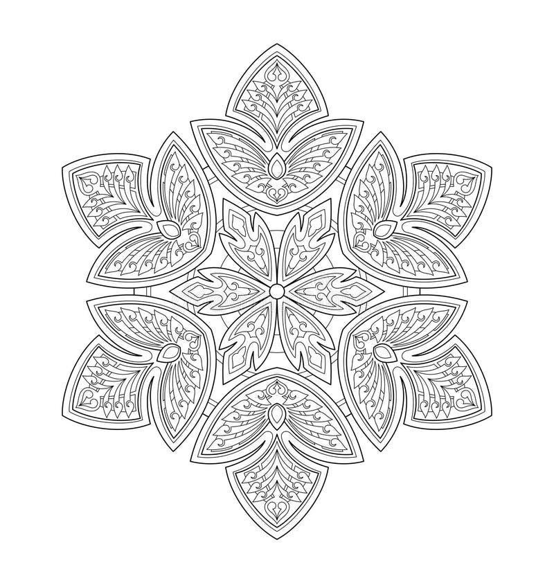 Decorative Mandala Illustration Stock Vector ...