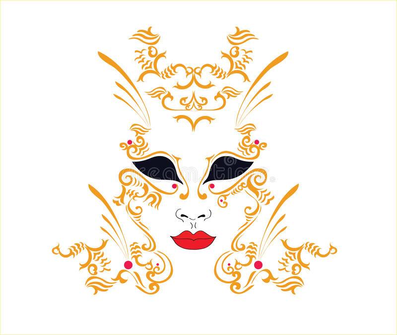 Download Decorative mask stock vector. Image of fancy, king, festival - 12648980
