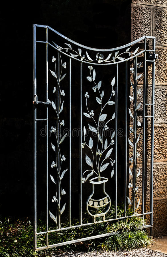Download Decorative Metal Garden Gate Stock Photo   Image: 88554059