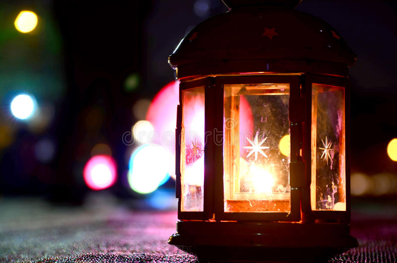 Decorative Multi-coloured Lantern stock photography