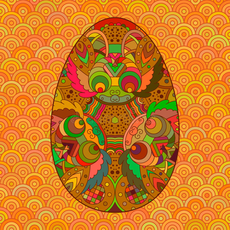 Decorative multicolor brown Easter egg. royalty free illustration