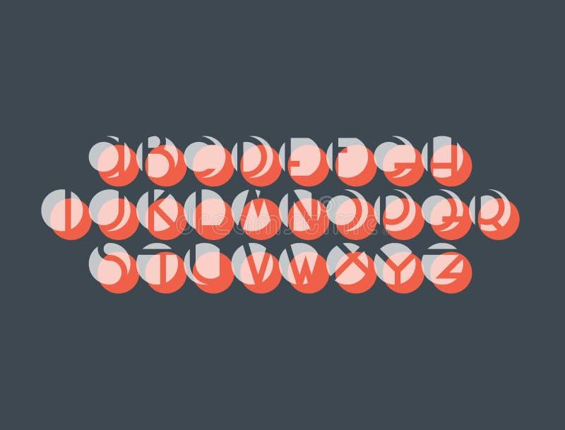 Decorative negative space font stock illustration
