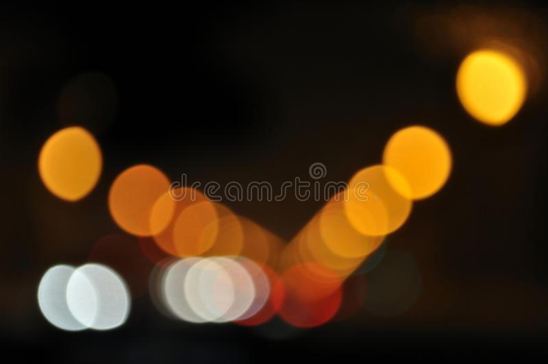 Blurred neon lights. Decorative blurred neon lights on street stock photo