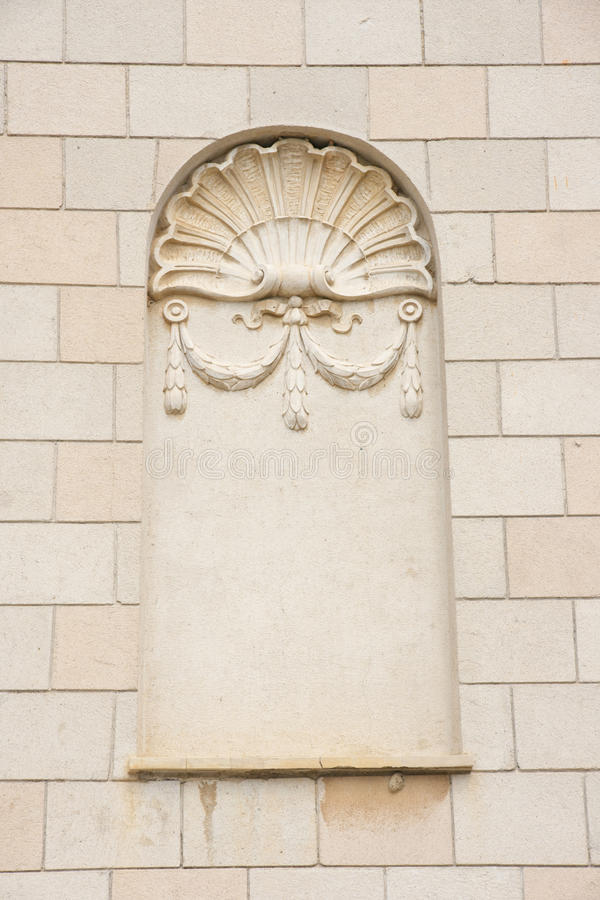 Decorative niche. Ornament on a wall-decorative a niche royalty free stock photography