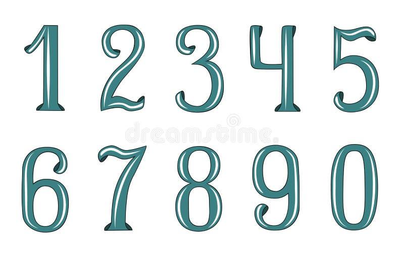 Decorative numbers stock photos