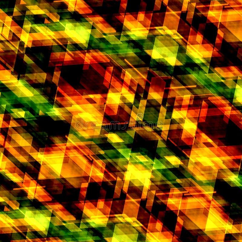 Decorative orange background. Abstract texture. Art pattern. Technology backdrop. Square shaped pic. Illustration design. stock illustration