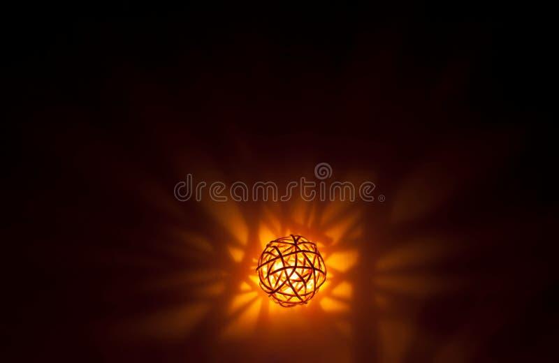 Decorative orange ball string lights stock illustration