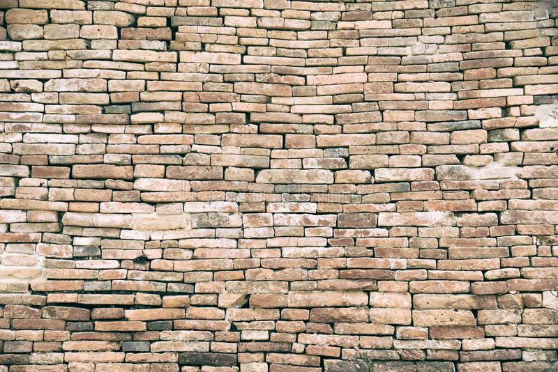 Decorative orange brick wall.Red aged brick wall texture. Building background.Vintage historical old brick wall background. Decorative orange brick wall.Red aged royalty free stock photos