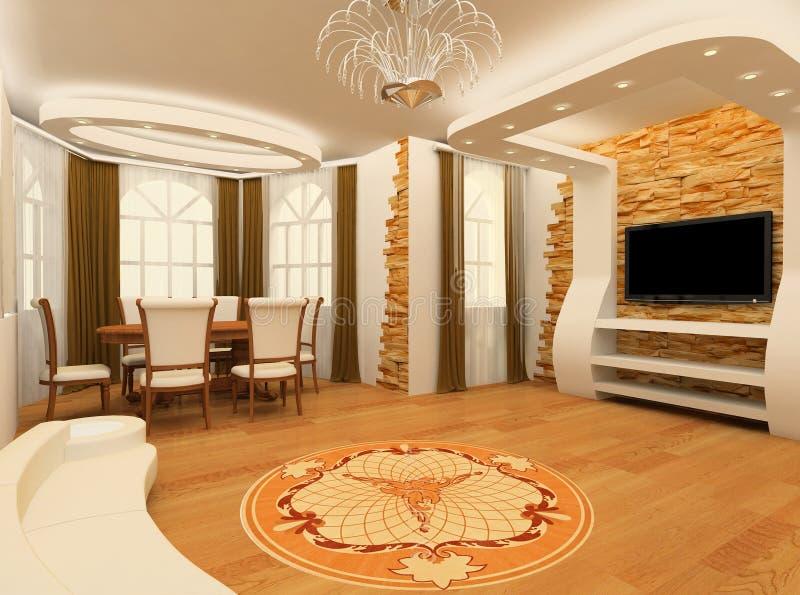 Decorative ornament on the floor royalty free illustration