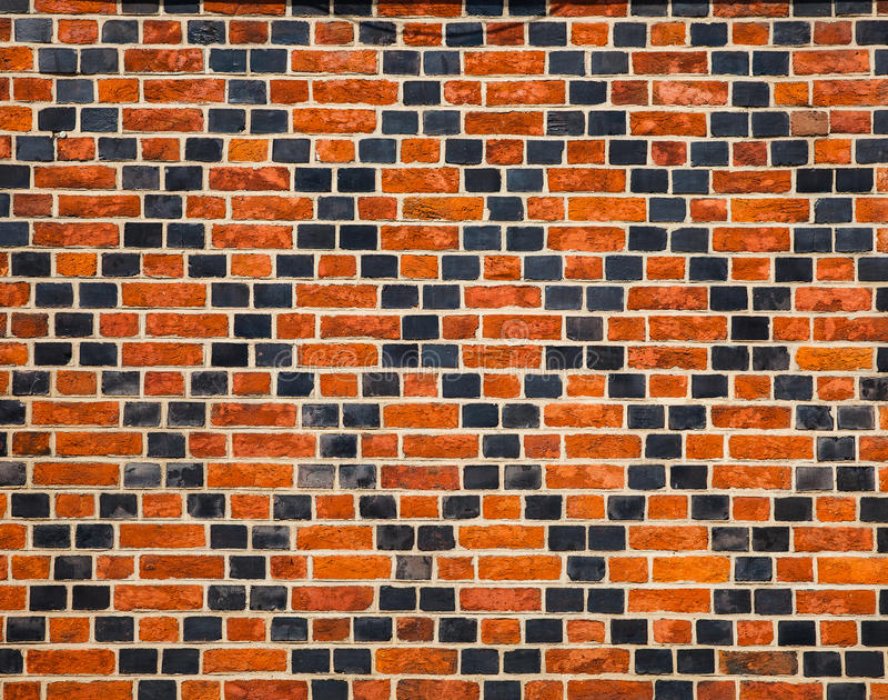 Download Decorative Ornament Made by Red And Black Bricks Stock Image - Image: 33186861