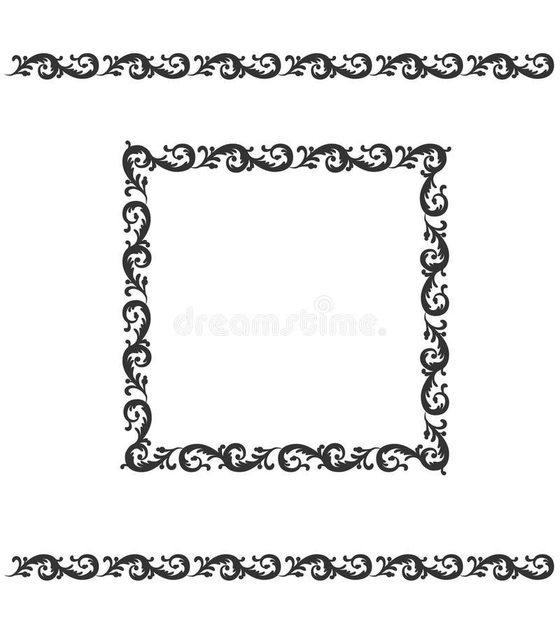 Decorative ornament page boarder and frame. Floral pattern. Vector illustration decor. Decorative ornament page boarder and frame. Floral pattern. Vector vector illustration