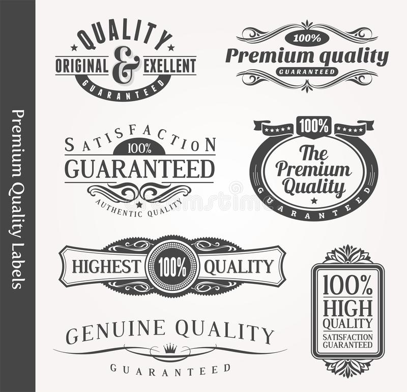 Download Decorative Ornamental Emblems Of Quality Stock Vector - Image: 24601417