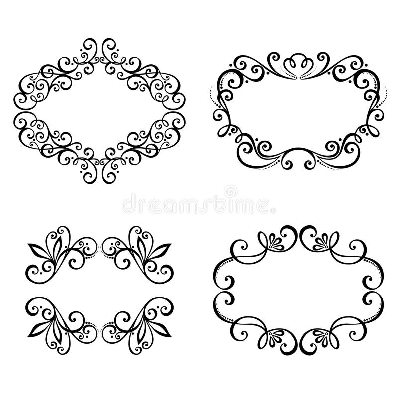 Download Decorative Ornamental Frame For Text. Stock Vector - Image: 34606489