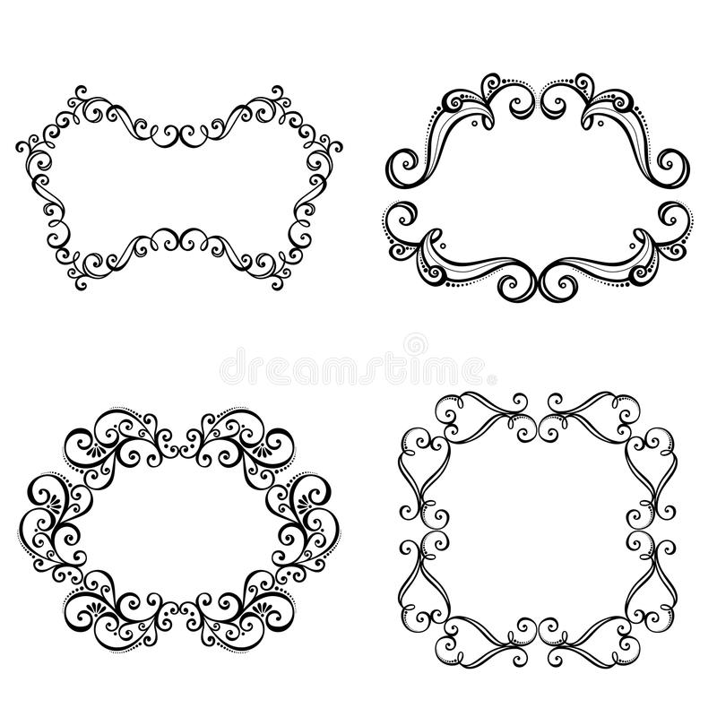 Download Decorative Ornamental Frame For Text. Stock Vector - Image: 34606607