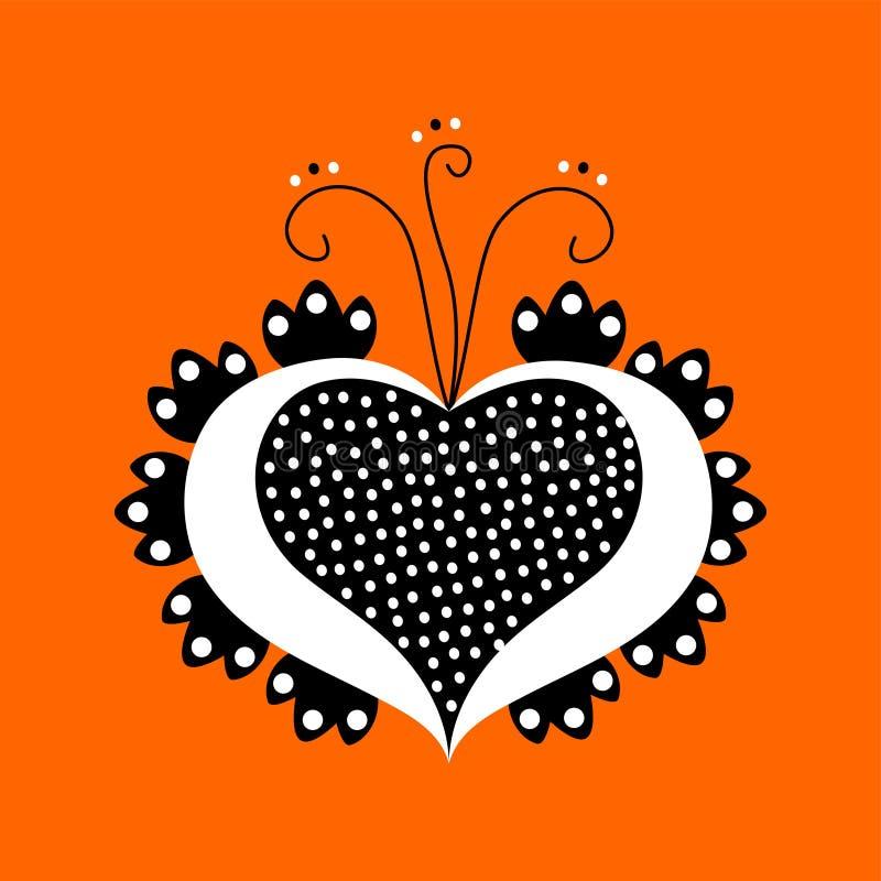 Decorative ornamental heart stock images