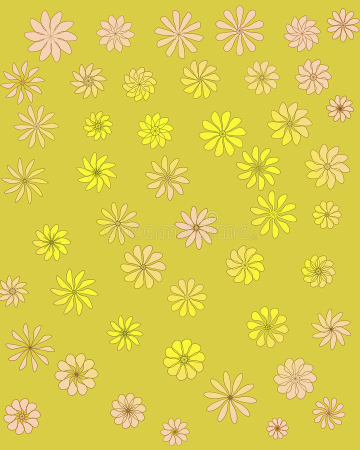 Decorative ornamental seamless spring flower pattern royalty free stock photos