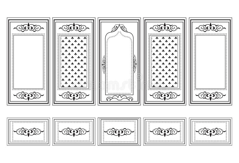 Decorative Ornamented Frames For Walls Or Backgrounds Stock Vector ...